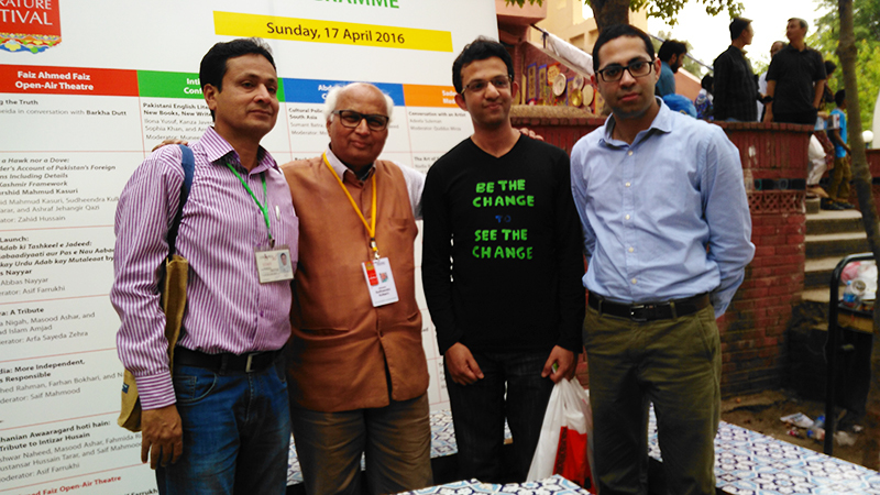 Me with young Pakistanis at the Islamabad Literature Festival.