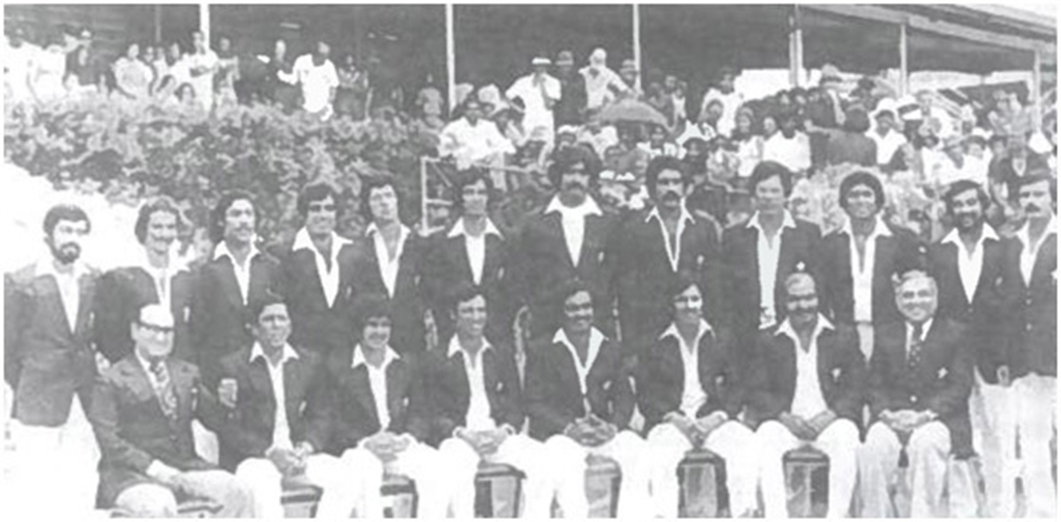 The Pakistani touring squad in the West Indies.