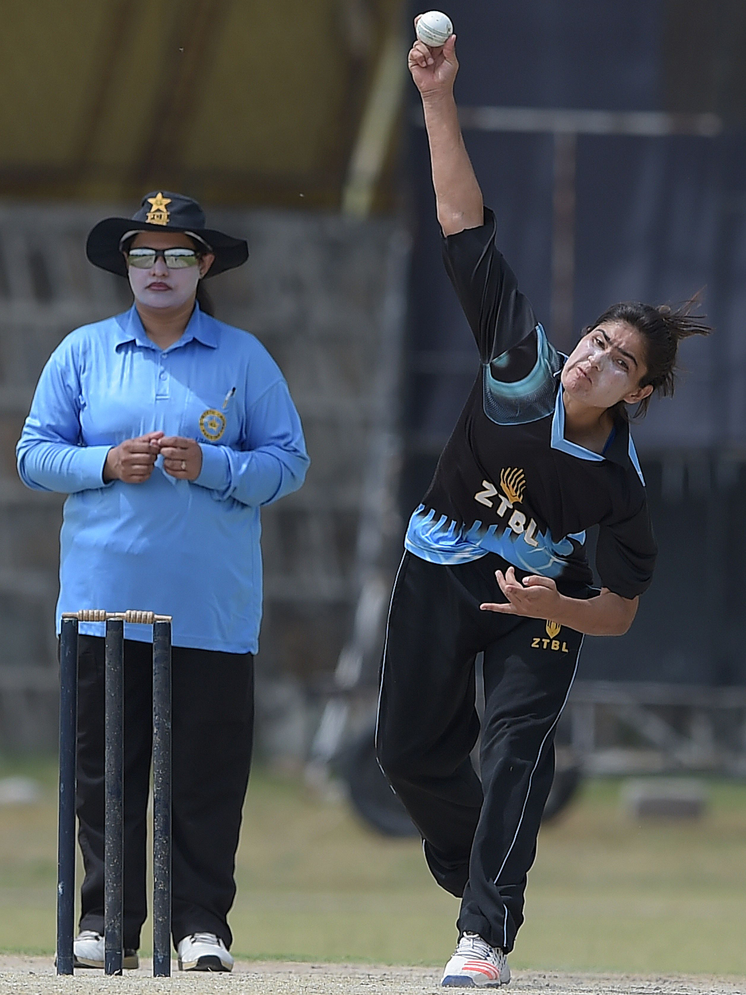 Diana Baig delivers the ball during a domestic cricket championship match in Islamabad. — AFP