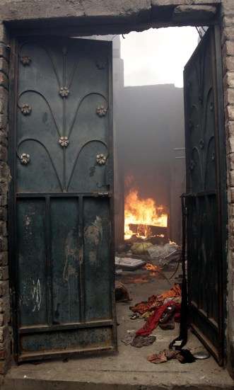 A Christian home torched during the Joseph Colony arson attack in Lahore in 2013 | Azhar Jafri, White Star