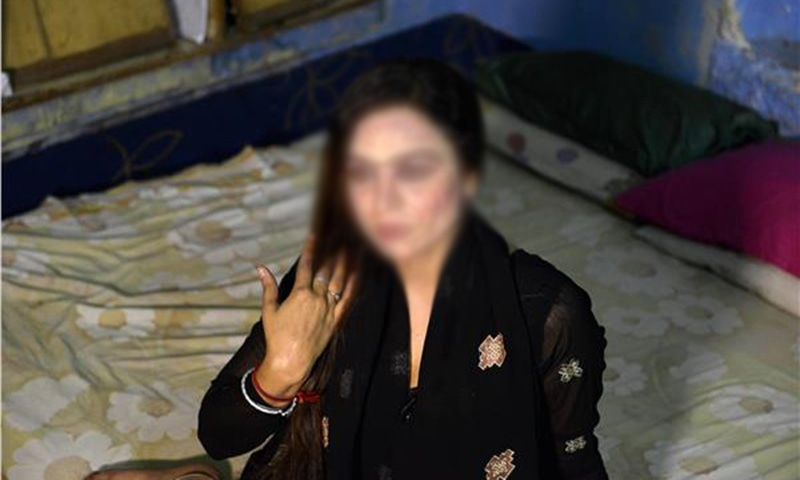With location rendered meaningless, prostitutes like Reema Kanwal have abandoned *Heera Mandi*. ─ AFP