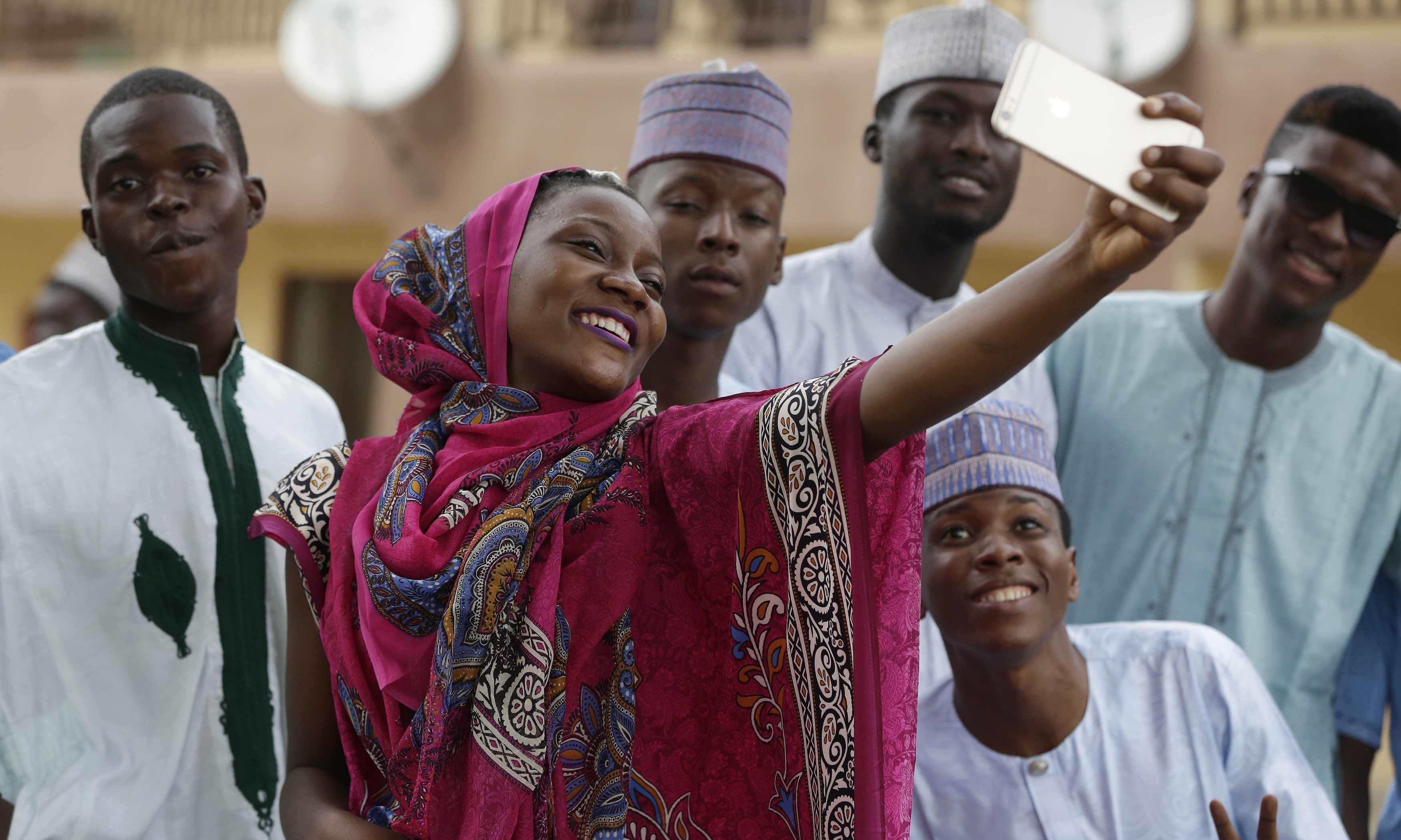 Image result for nigerian muslims taking selfies