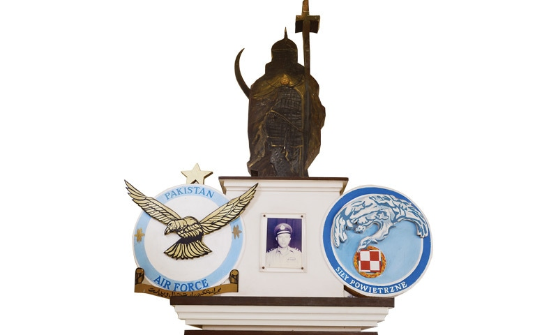 A monument in honour of Turowicz at the Pakistan Air Force Museum -Photos by Tahir Jamal/White Star. Courtesy Pakistan Air Force Museum.