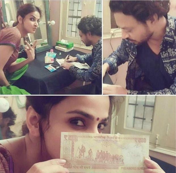 Sneakpeeks from the shoot of Hindi Medium