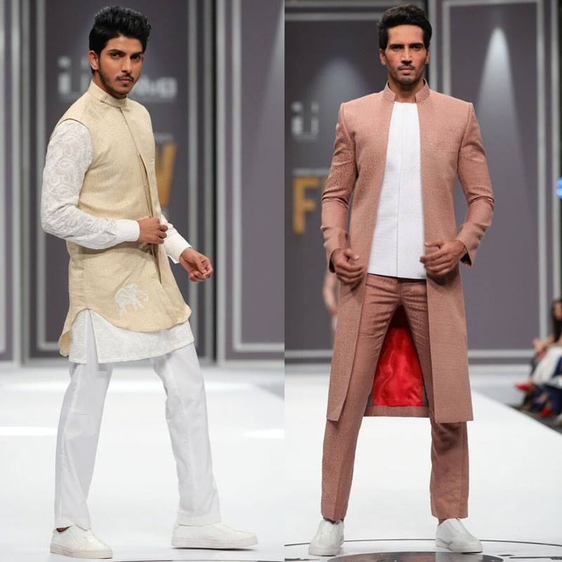 Deepak & Fahad sent down some funky designs for men