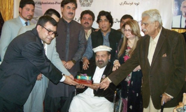Pashto ghazal maestro Khial Mohammad was decorated with the highest civil national award of Afghanistan at a function held at Afghan Consulate — White Star