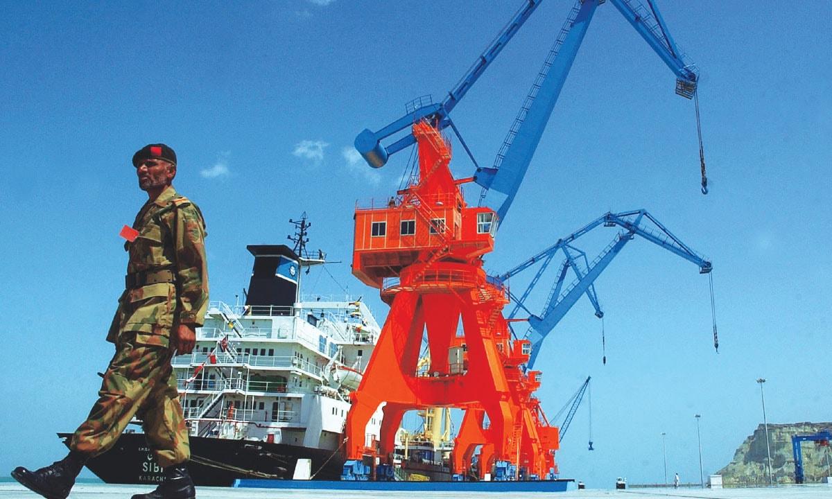 A guard keeps watch at Gwadar Port.—AP