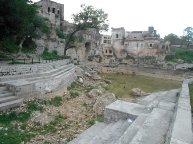The Katas Raj pond in Chakwal. — Dawn