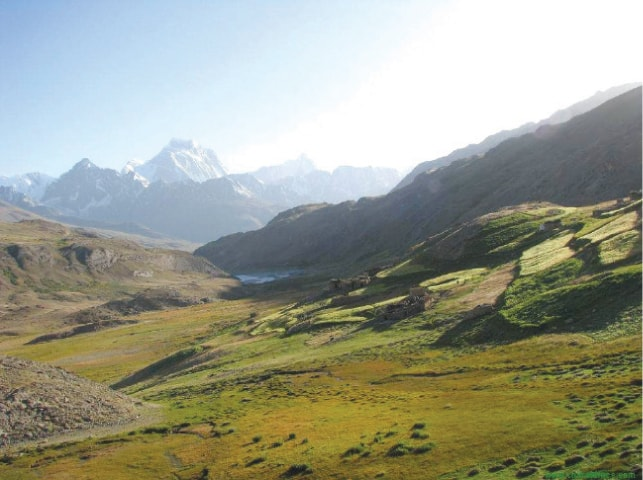 The lush green Baroghil National Park. — Dawn