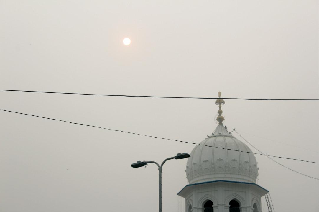 The sun sets over Nankana Sahib. Credit: Bilal Karim Mughal