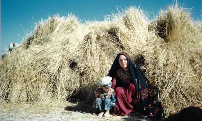 Mariam Abou Zahab on one of her missions in southern Afghanistan for French humanitarian NGO, Afrane, during the mid-1980s | Credit: Laurent Gayer