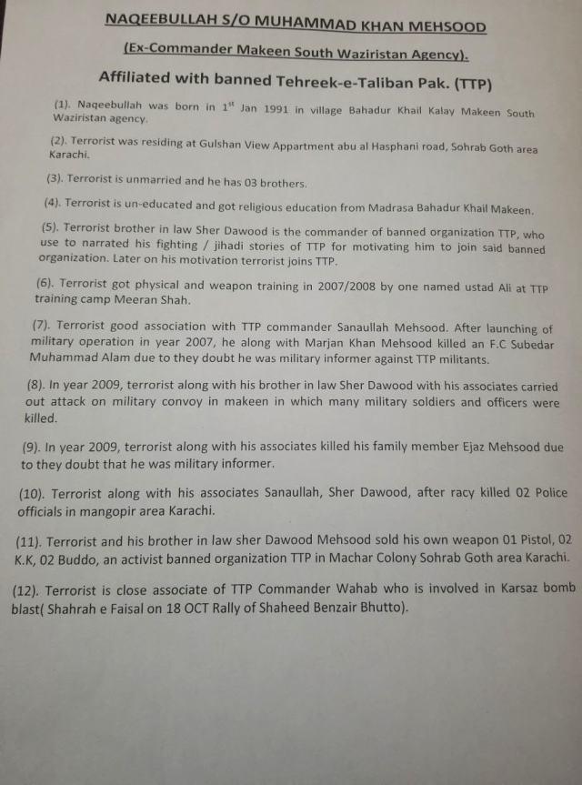 Row Anwar's claims regarding Naqeebulah's path to militancy — DawnNews