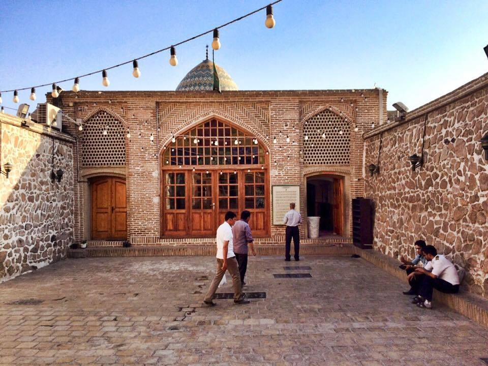 The courtyard of the Bibi Shahrbanu shrine.