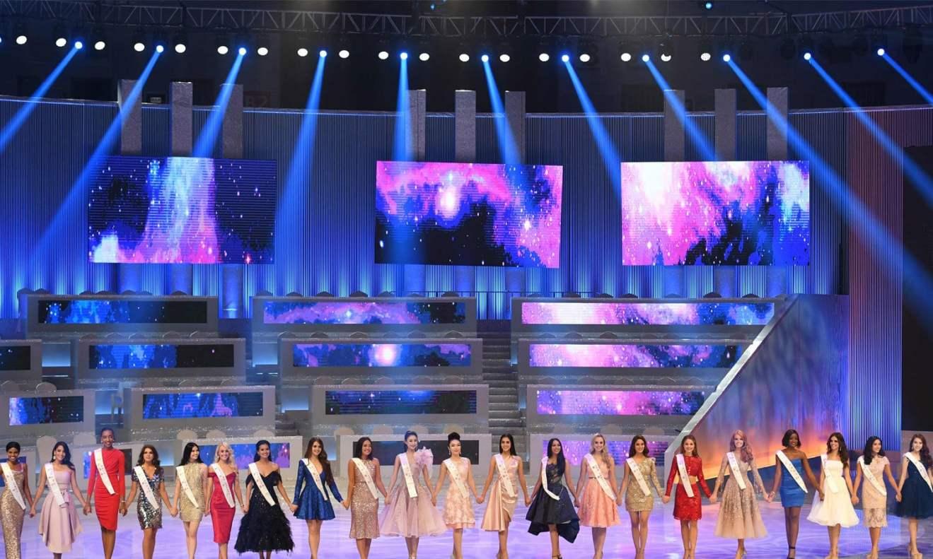 چین میں منعقد مس ورلڈ کے مقابلے میں 118 حسیناؤں نے شرکت کی— فوٹو: اے ایف پی