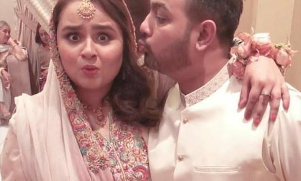 Faiza and Abuzer at their nikkah