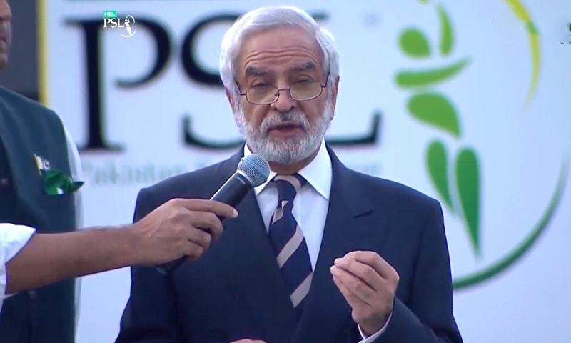PCB Chairman Ehsan Mani. —DawnNewsTV