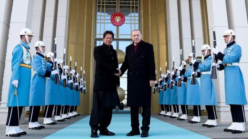PM Imran Khan with Turkish premier Erdogan during his state visit in January this year