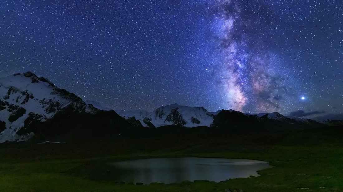 Milky-way near the lake. — *Photo by author*