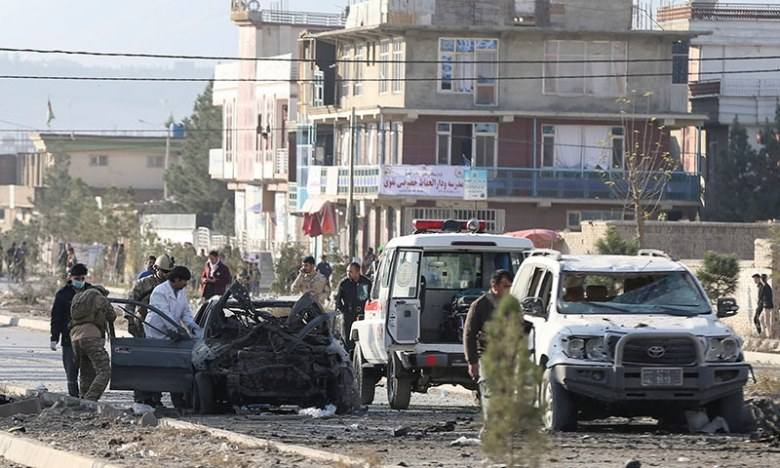 Image result for Car bomb kills at least 7 civilians near Interior Ministry in Kabul