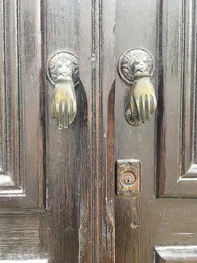 Unique doorknobs in the Medina.