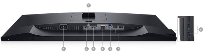 Dell 24 Monitor - P2419H | Connectivity Options
