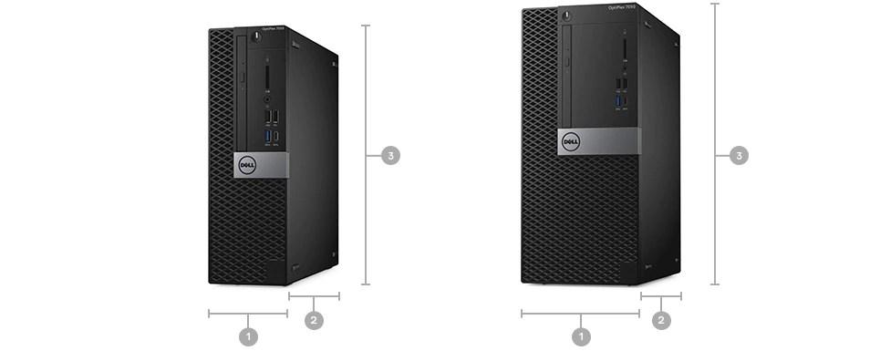 Nova torre OptiPlex 7050 e de dimensões reduzidas – dimensões e peso
