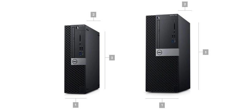 Optiplex 7060 desktop - Dimensions & Weight