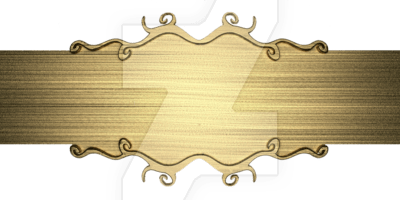 Download Free Png Template Of Gold Metal Plate By 94r4d0x On