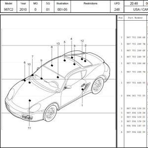 Porsche Parts Catalog 356 911 912 924 928 944 968 Boxter Cayenne Cayman Panamera | eBay