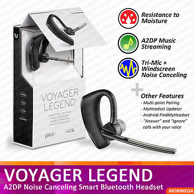 Plantronics Voyager Legend Bluetooth Headset With Text And Noise Reduction Headsetvalley