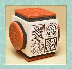 Celtic Knot Rubber Stamp Cube #1 * 4 Designs on 1 Mounting ...