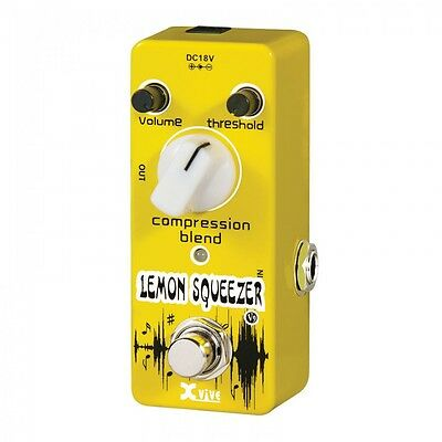 XVIVE XV9 LEMON SQUEEZER COMPRESSOR MICRO PEDAL - BRAND NEW AND BOXED