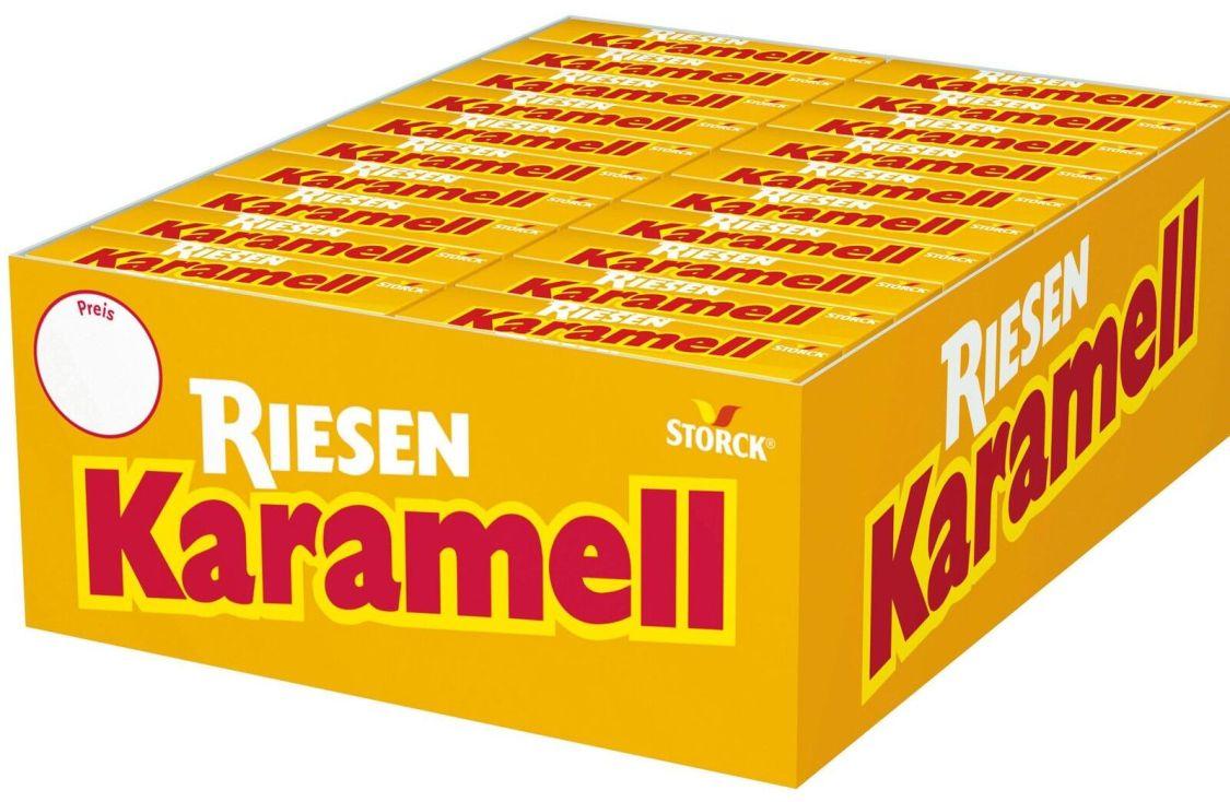 (1000g=3,88€) Storck Karamell Riesen - Kaubonbon - 80 Packungen - Caramel