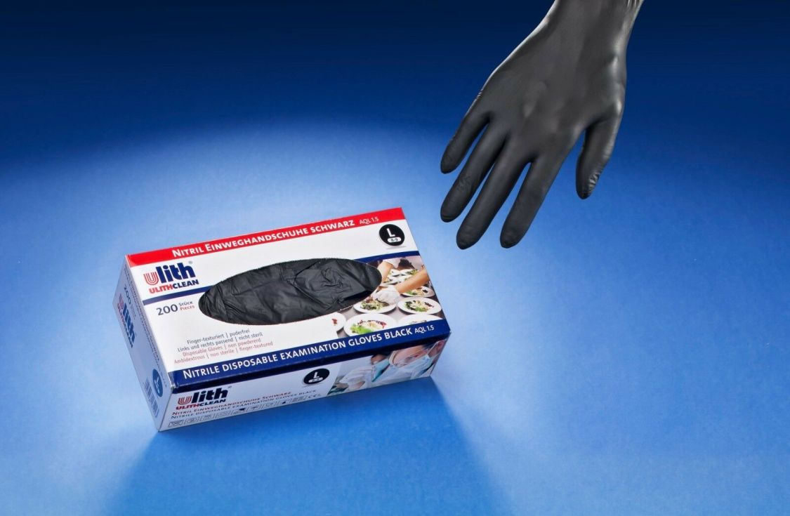200 - 2000 Stück Einweghandschuhe Nitril Einmal Handschuhe Schwarz Weiß S M L XL