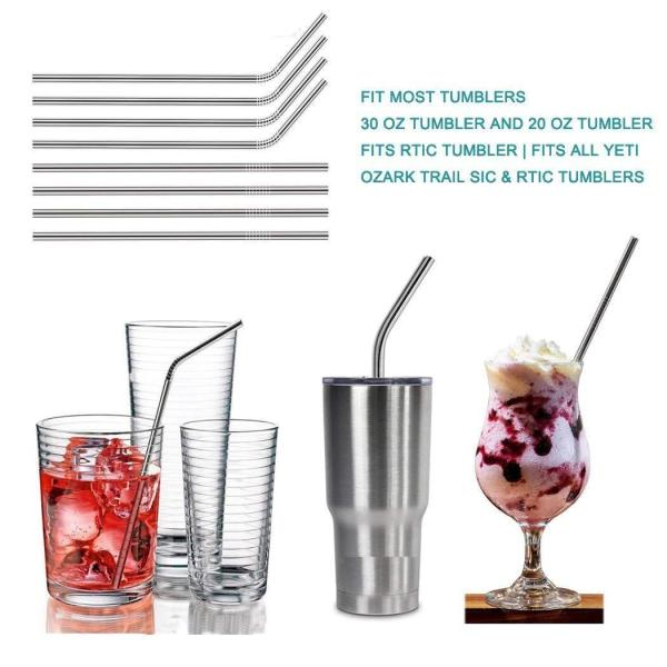 10.5 Stainless Steel Straws | Easy To Clean and Reusable‎ 3