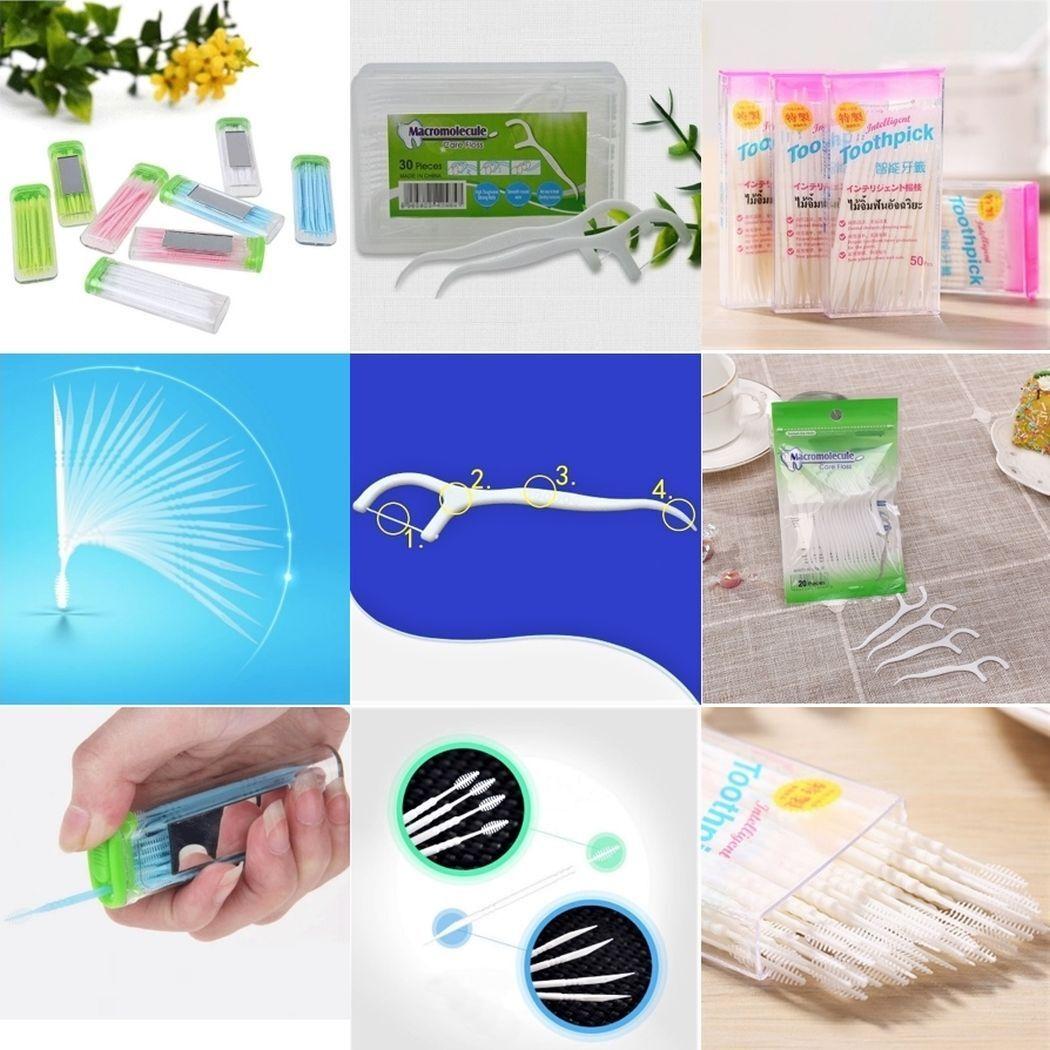 20 40 50 100 300 600 Zahnseide Zahnstocher Sticks Zahnpflege Zahnreinigung Box