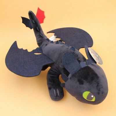 How to Train Your Dragon 2 Toothless Plush Soft Toy Night Fury Doll Figure 21""