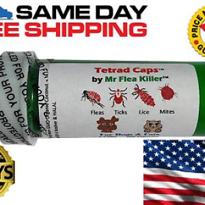 50 Tetrad Cap Capsule Dog Cat 2-13lb Rapid Flea Tick Lice Mite Killer Control 1
