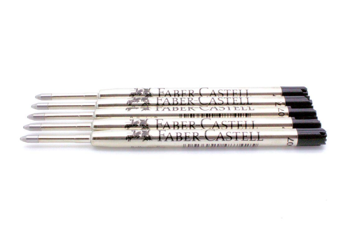 FABER-CASTELL Kugelschreiber-Großraummine B, schwarz, Sparpack wählbar