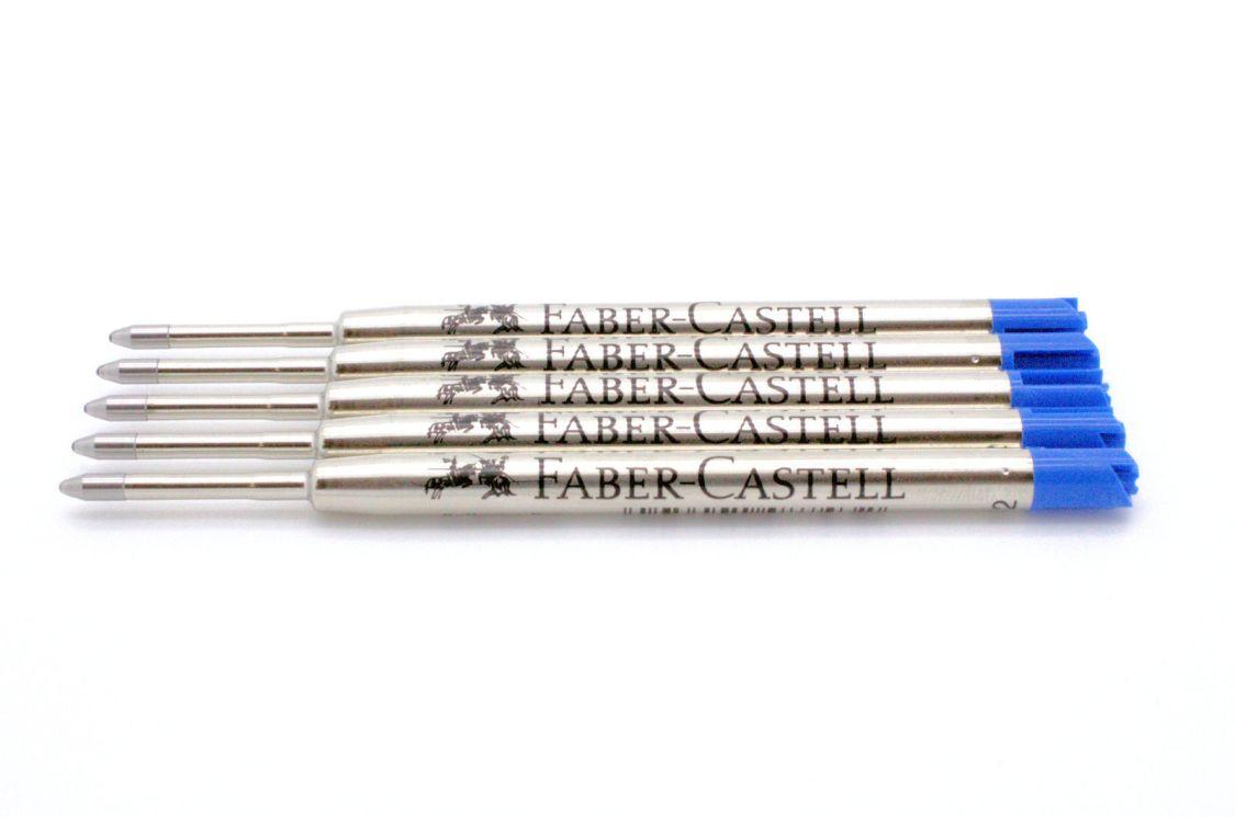 FABER-CASTELL Kugelschreiber-Großraummine B, blau, Sparpack wählbar