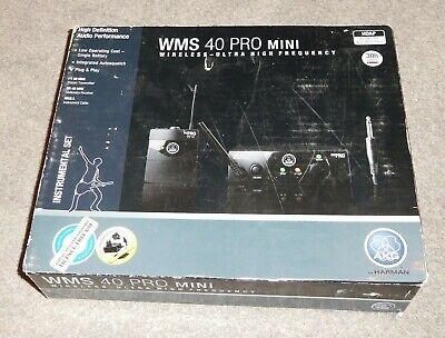AKG WMS40 Pro Mini Wireless Radio Guitar System Receiver Transmitter Band Studio