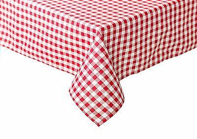 Tischdecke Tischwäsche Bauernkaro kariert Züchen Karo Vichy Baumwolle rot-weiß