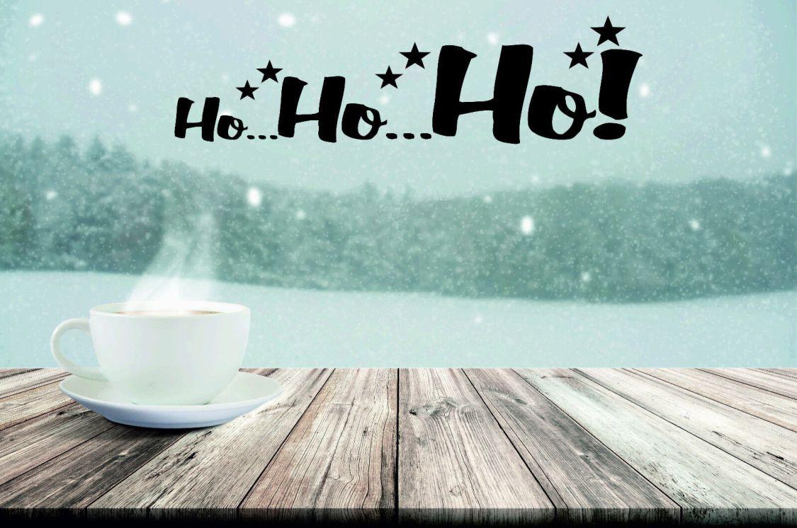 AU 262 - Ho Ho Ho HOHOHO Möbelsticker Fensterbild Weihnachten Aufkleber