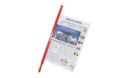 Zeitungshalter Zeitungsstock Buche Rot Zeitung Magazin Speisekarte Halter Stock