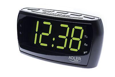 Uhrenradio Radiowecker XXL Display Dimmbar Digitaler Wecker Uhr Dual Alarm NEU