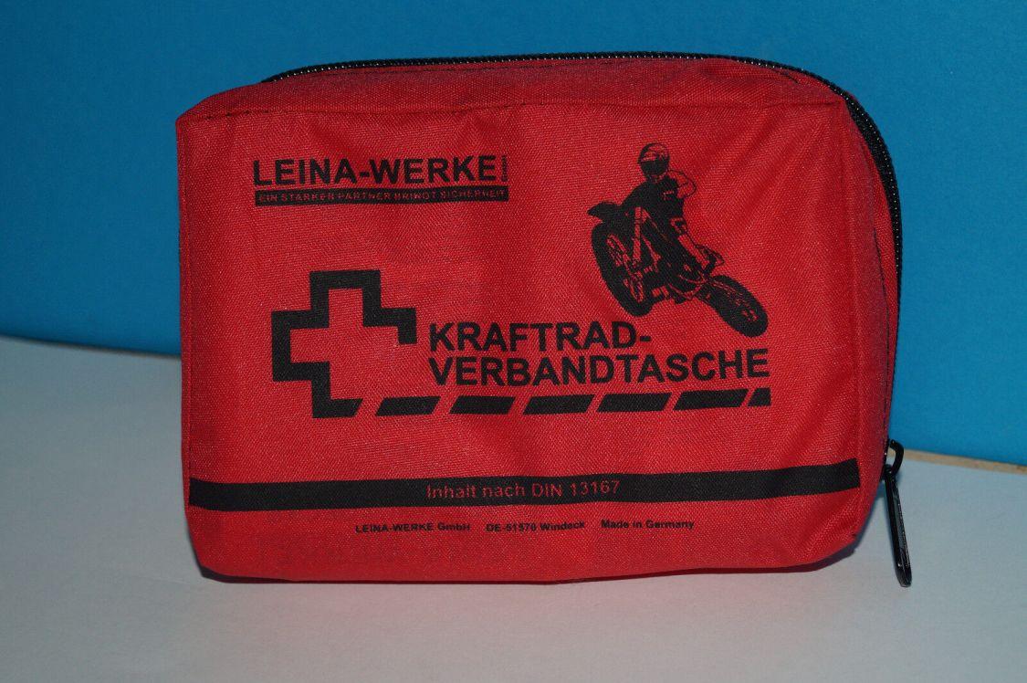 Motorrad Roller Verbandtasche Verbandkasten DIN 13167 Erste Hilfe Mini 09/2023