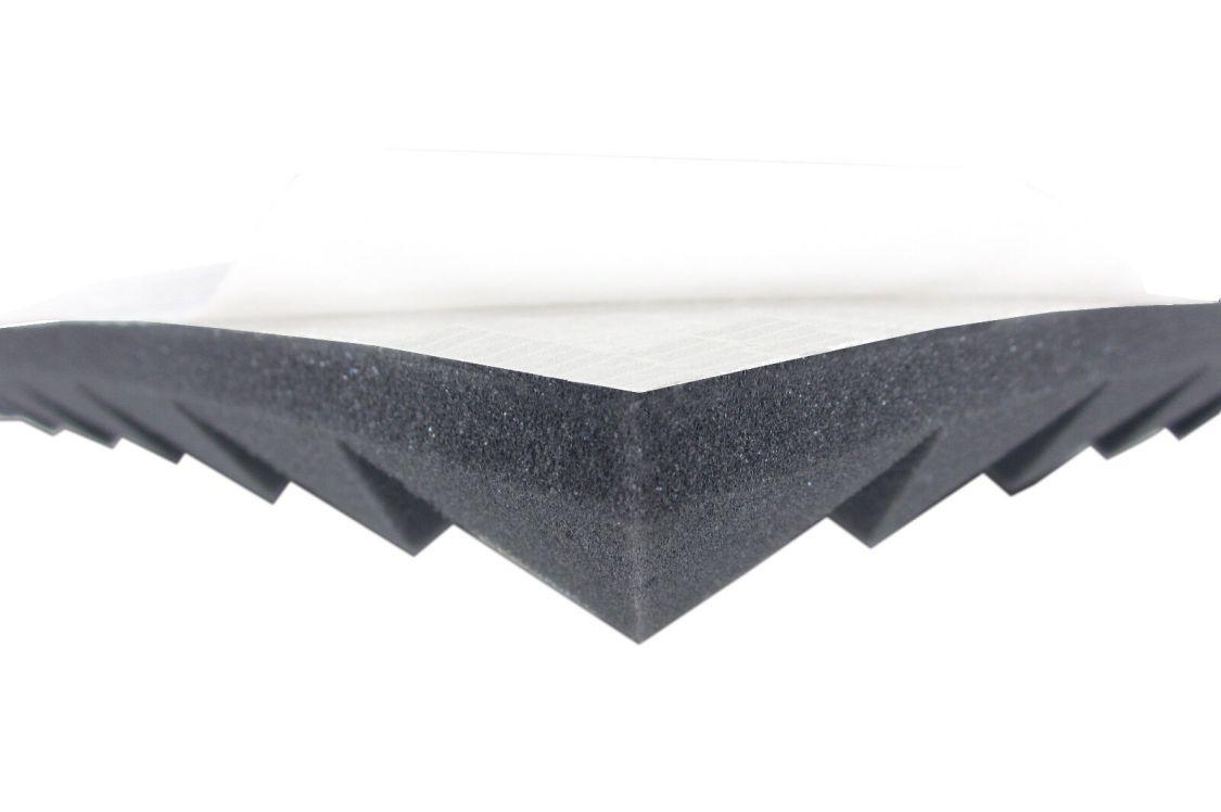 Akustikpur Pyramidenschaumstoff (4cm) SELBSTKLEBEND Akustik Schaumstoff Dämmung
