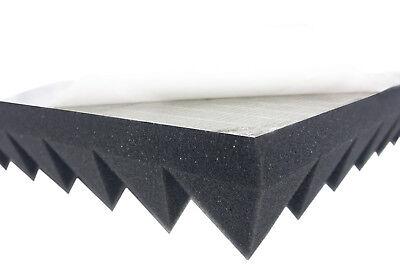 Akustikpur Pyramidenschaumstoff (5cm) SELBSTKLEBEND Akustik Schaumstoff Dämmung