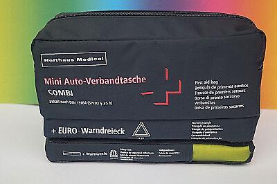 KFZ Verbandkasten 3 in1 Warnweste Warndreieck DIN 13164 Auto Verbandtasche 2024