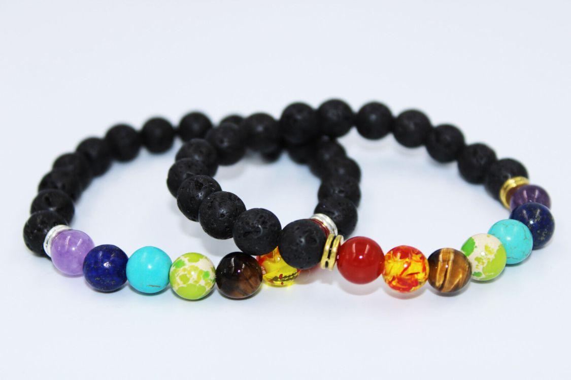 Lavastein Armband Energiearmband Yoga Armband Gebetstein Tibet Buddhismus